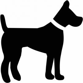 Hond motief 2 sticker