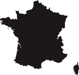Frankrijk Map sticker