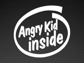 Angry Kid sticker