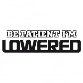 BE Patient I'M Lowered Motief 2 Sticker