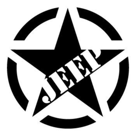 US Army Ster JEEP Sticker Motief 17