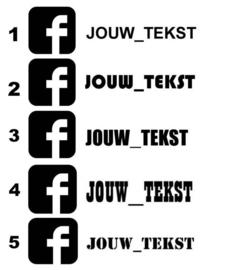 Facebook Eigen Tekst Sticker | Model 3