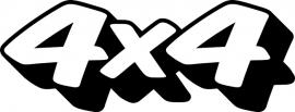 4x4 Motief 50 sticker