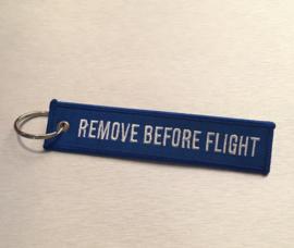 Remove Before Flight Sleutelhanger Blauw