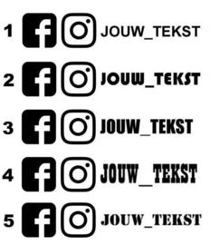 Facebook + Instagram Combi Sticker
