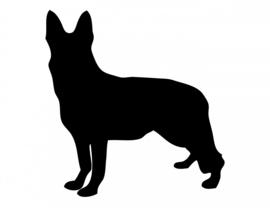 Duitse Herder Sticker Motief 2