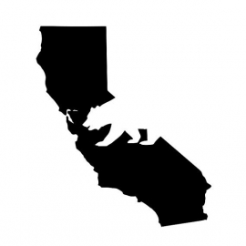 Californië State Motief 2 sticker