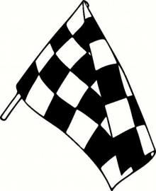 Race Vlag Motief 9  sticker
