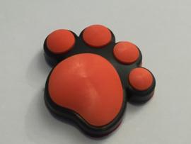3D Honden / Katten poot Deurbeschermer Oranje | 1st.