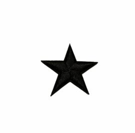 Army Ster Strijk Patch Zwart | 4,5 x 4,5 cm