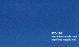 Oracal 970RA 196  Wrap Folie  Mat Nacht Blauw Metallic