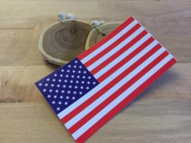 Amerikaanse Vlag Sticker ( 11,5 x 6,5 cm )
