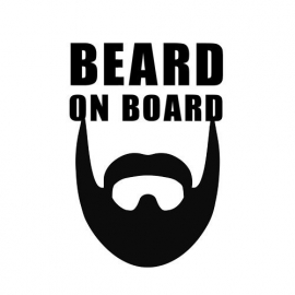 Beard On Board Sticker