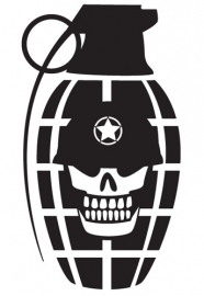 Granaat Skull sticker