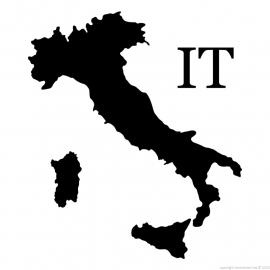 Italie Map sticker