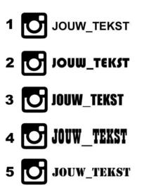 Instagram Eigen Tekst Sticker | Model 3