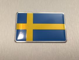 Zweden Embleem Metaal ( Rechthoekig )