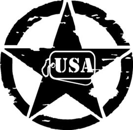 US Army Ster USA Sticker Motief 30