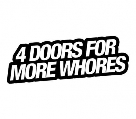 4 Doors Motief 2 sticker