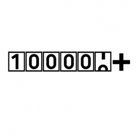 100000+ sticker