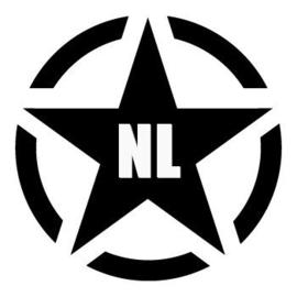 Army Ster NL Sticker Motief 13