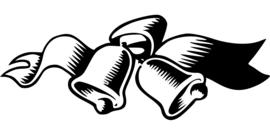 Kerstbellen Sticker Motief 1