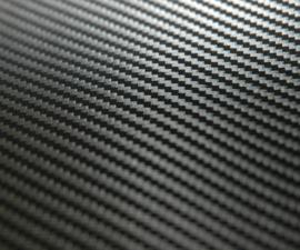 Restant : 10 cm x 152 cm Zwart Carbon Fine
