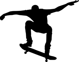 Skateboarding Sticker Motief 2