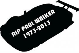 RIP Paul Walker Motief 2 Sticker
