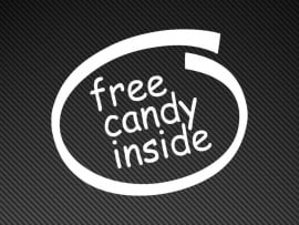 Free Candy Inside sticker
