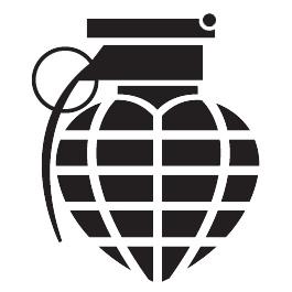 Granaat Hart Motief 2 sticker