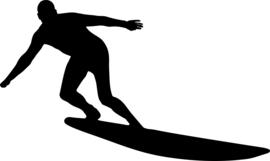 Surfen Sticker Motief 3