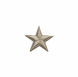 Army Ster Strijk Patch Wit | 4,5 x 4,5 cm