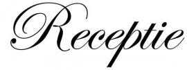 Receptie Sticker