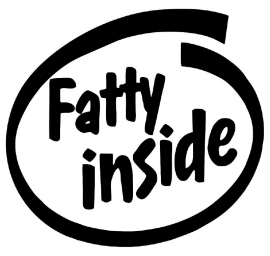 Fatty Inside sticker