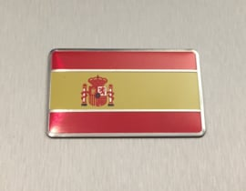 Spanje Embleem Metaal ( Rechthoekig )