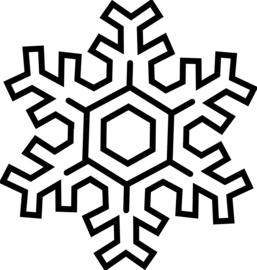 Sneeuwvlok Sticker Motief 3