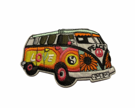 VW Bulli Love Bus Embleem Strijk Patch