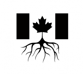 Canadese Vlag Home Roots sticker