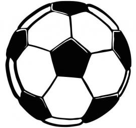 Voetbal Oranje Motief 1 sticker