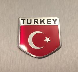 Turkse Vlag Embleem Metaal ( Schild )
