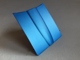 Restant : 50 cm x 50 cm Mat Blauw Metallic