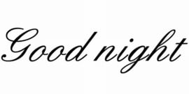 Good Night Motief 1 Sticker
