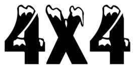 4x4 Motief 5 Sticker