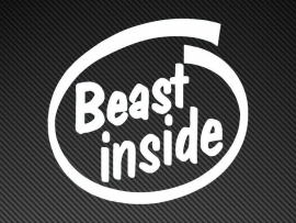 Beast Inside sticker