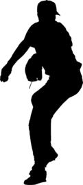 Honkbal Sticker Motief 1