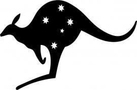 Australië Southern Cross Stars Motief 2  sticker