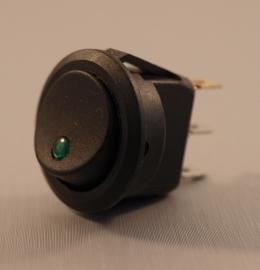 2 Standen Schakelaar LED Groen Rond