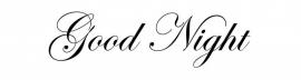 Good Night Motief 2 Sticker