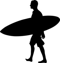 Surfen Sticker Motief 4
